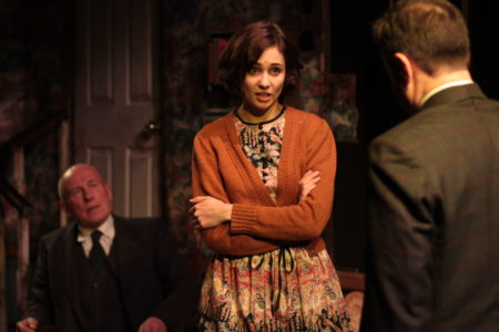 Christopher Timothy & Tuppence Middleton  in The Living Room. Photo by Robert Workman.