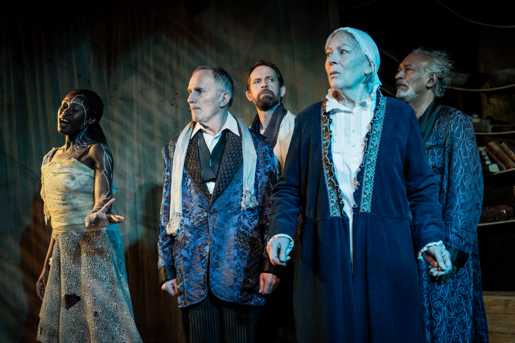 Whitney Kehinde, Richard Derrington, Peter Bramhill, Lynn Farleigh & Jim Findley in The Tempest. Photograph by Robert Workman.