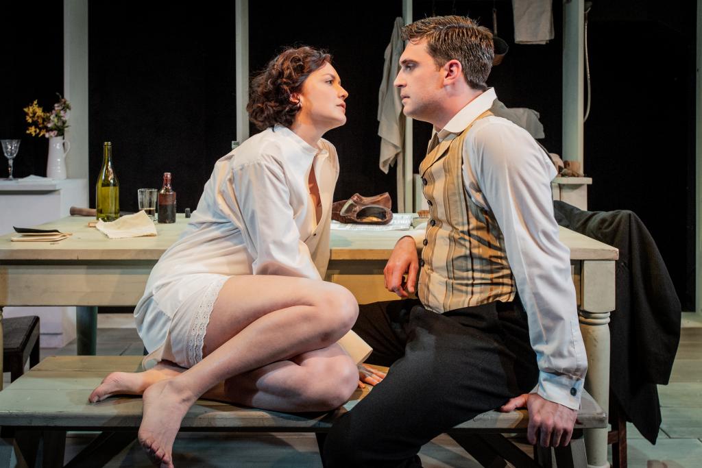 Charlotte Hamblin & James Sheldon in Miss Julie. Photo by  Robert Workman.